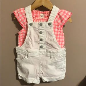 Adorable 18-24m summer overalls outfit